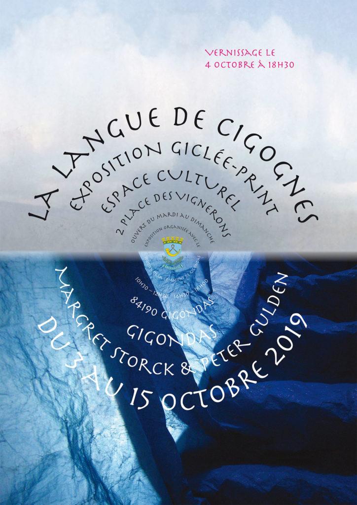 Exposition La langue de Cigognes Gigondas